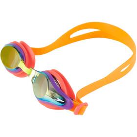 speedo Mariner Supreme Mirror Goggles Kinder jaffa/watermelon/gold